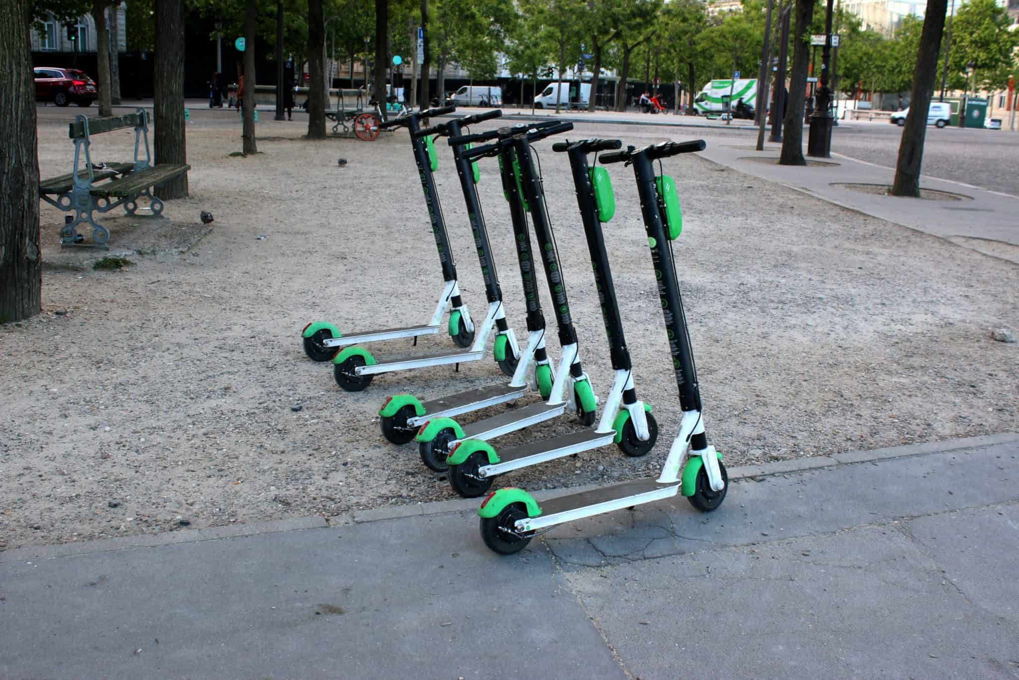 Lime rental Scooters in Paris