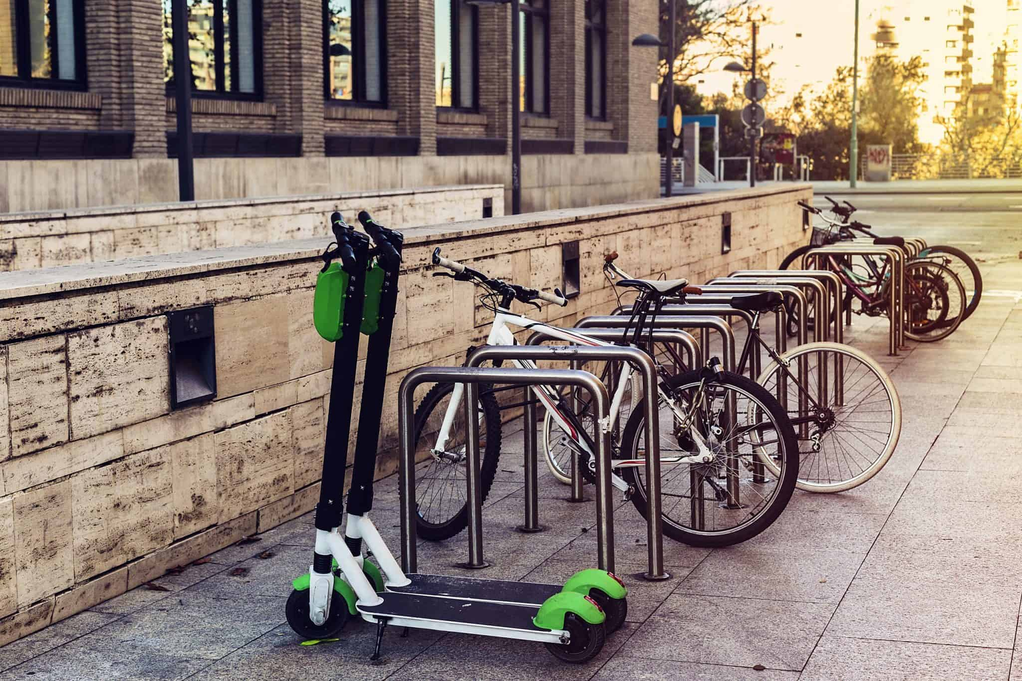 Rental Scooters Parked in Paris
