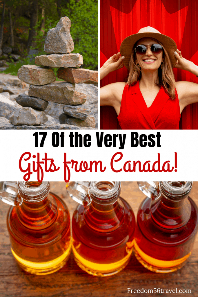 Pinterest image of the best Canadian souvenirs