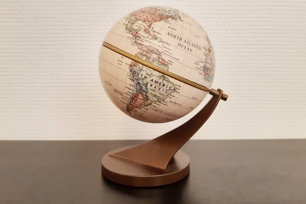 An antique globe, one of the unique things to buy in Paris