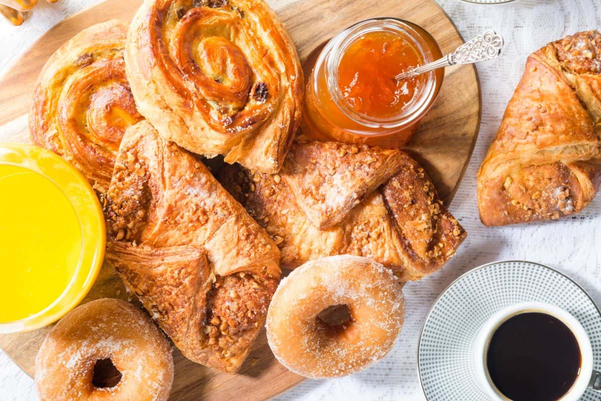 a selection of French pastries