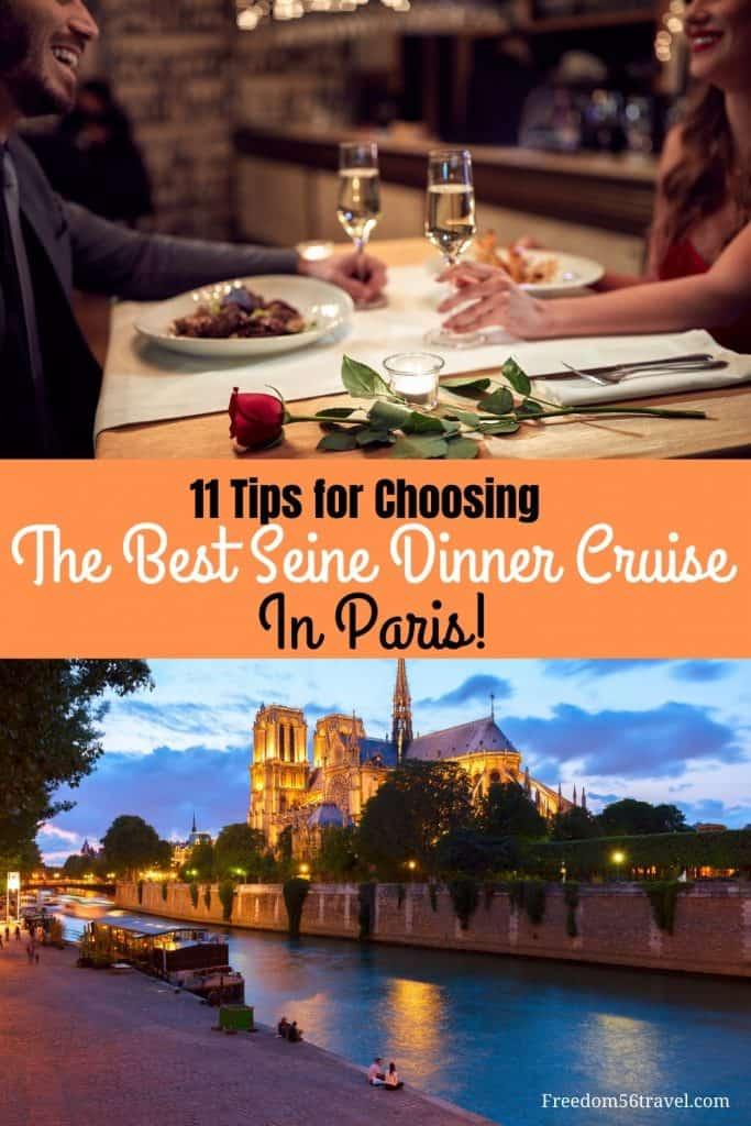 Pinterest Pin for best dinner cruise on the Seine in Paris