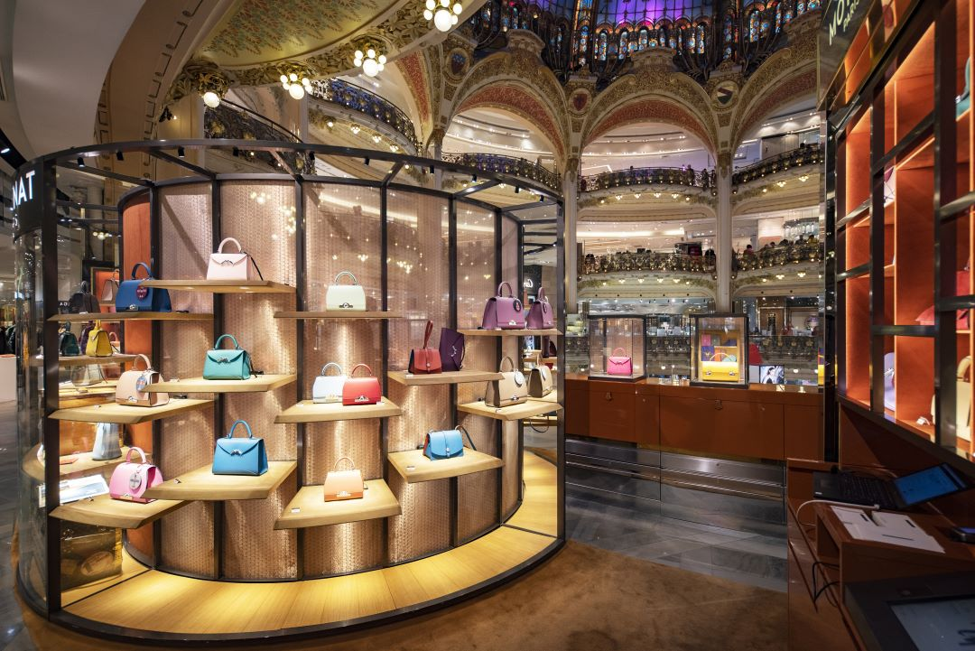 Galeries Lafayette purse shopping in Paris