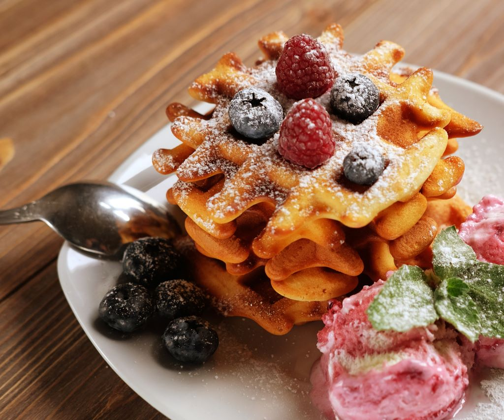 Belgian Waffles at Cafe Medina, part of a great Vancouver long weekend