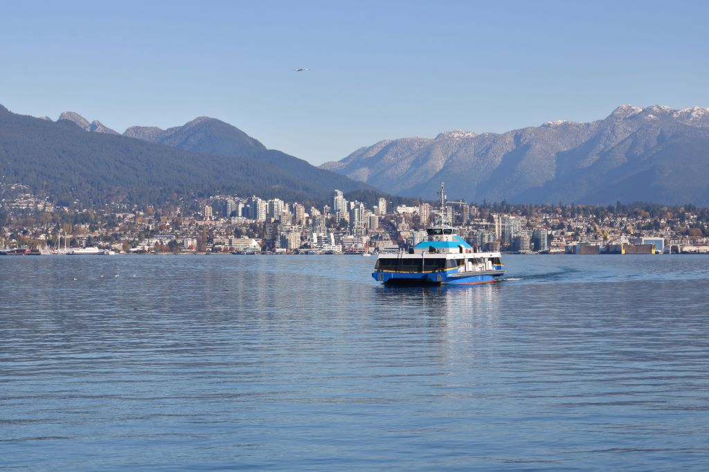 Vancouver Seabus, one of the ways you might get around Vancouver in a weekend